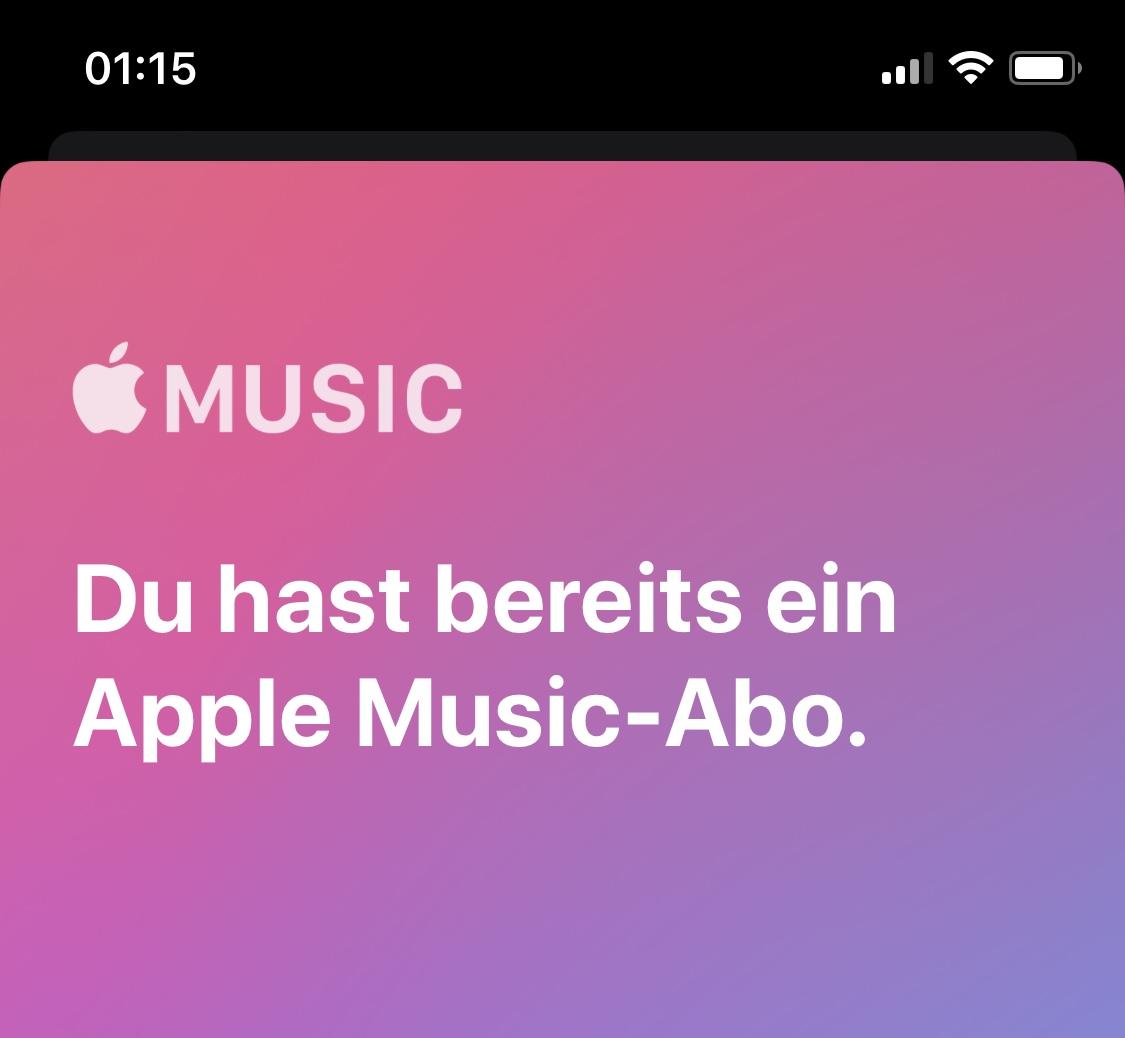 """Du hast bereits ein Apple Music Abo - Apple Community"