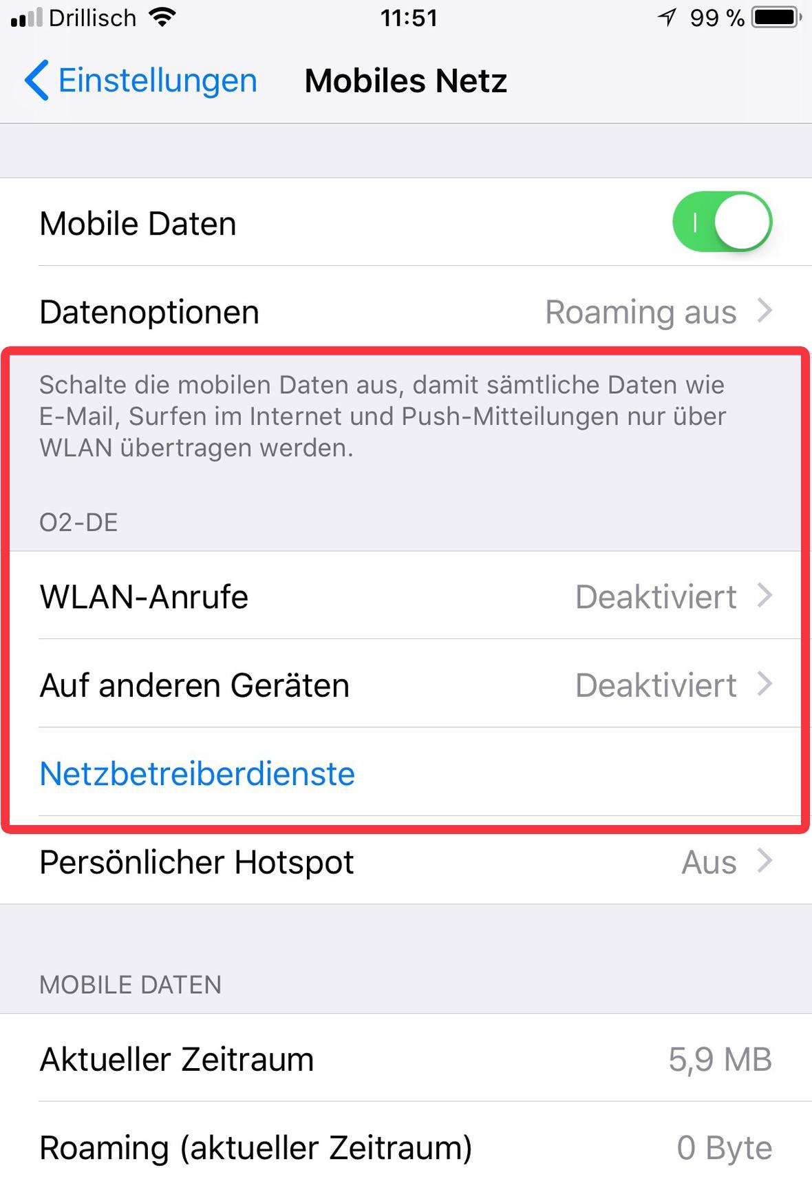 Mobile Daten Trotz Wlan Apple Community