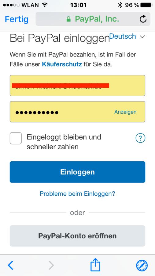 Apple Zahlungsmethode Keine