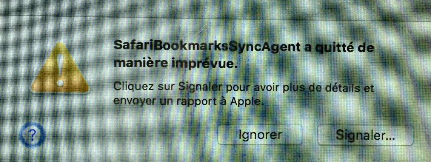 SafariBookmarksSyncAgent - Communauté Apple